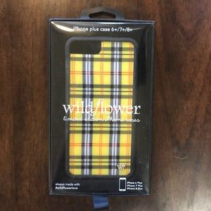 NEW IN BOX Wildflower iPhone plus case
